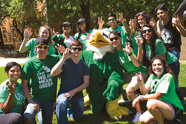 Future students at UNT Preview
